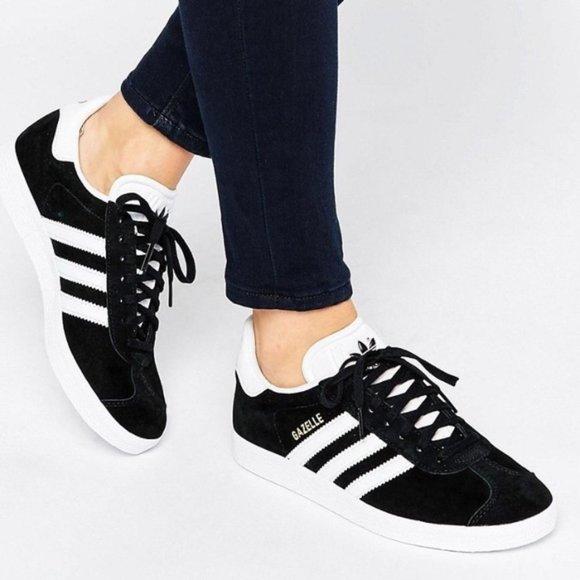 adidas Shoes | Gazelle Black Suede Low